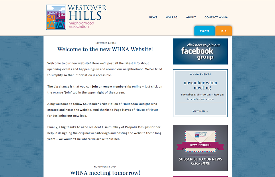 Westover Hills Neighborhood Association Website